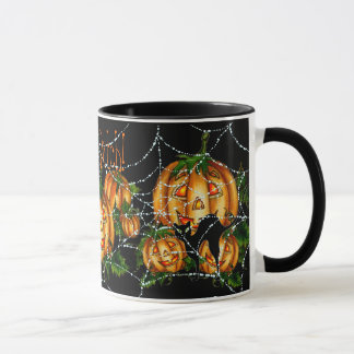 PUMPKIN PATCH & SPIDER WEB!  by SHARON SHARPE Mug