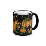 PUMPKIN PATCH & SPIDER WEB!  by SHARON SHARPE Ringer Coffee Mug