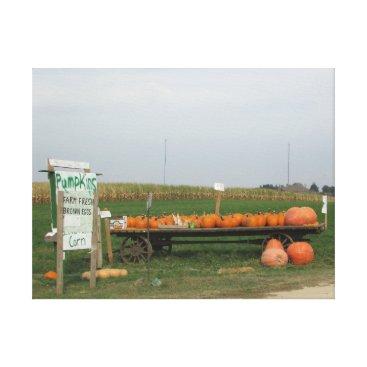 Halloween Themed Pumpkin Patch Stand Halloween Autumn Canvas Art