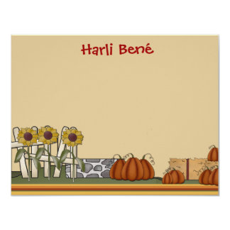 Pumpkin Patch Stationery Card