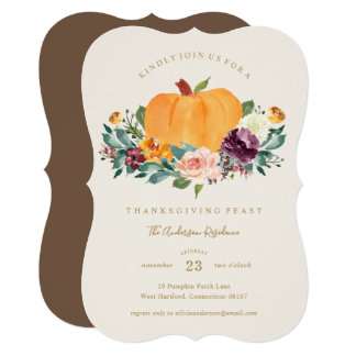 Pumpkin Patch Thanksgiving Dinner Invitation