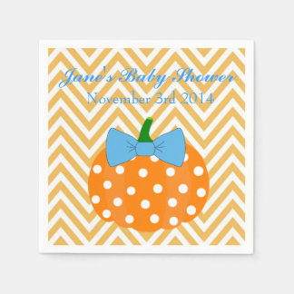 Pumpkin Patch Themed Boy Baby Shower Napkins Disposable Napkins
