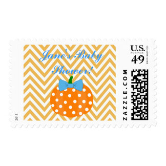 Pumpkin Patch Themed Boy Baby Shower Postage