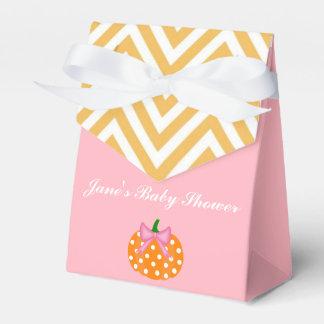 Pumpkin Patch Themed Girl Baby Shower Favor Box