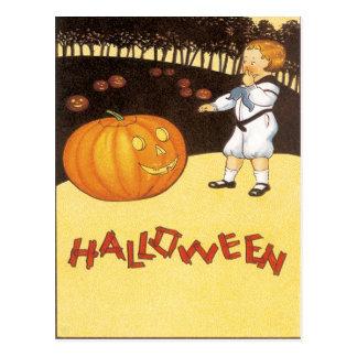 Pumpkin Patch Vintage Postcard