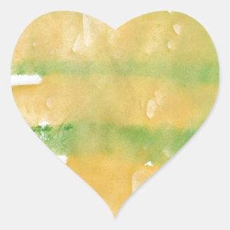 Pumpkin patch watercolor splotch heart sticker