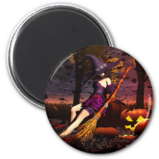 Pumpkin Patch Witch Magnet