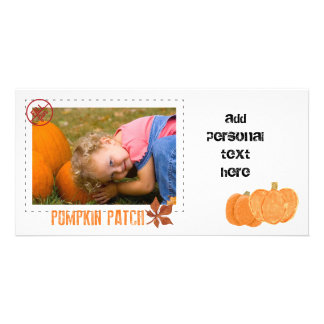 pumpkin patch with sepia overlay card