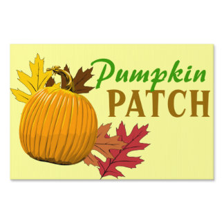 Pumpkin patch yard sign