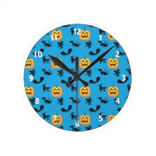 Pumpkin Pattern Clocks