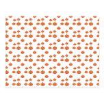 Pumpkin pattern in orange and white postcard