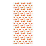 Pumpkin pattern in orange and white rack cards