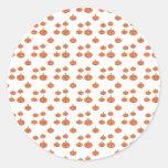 Pumpkin pattern in orange and white stickers