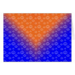 Pumpkin pattern on blue greeting cards