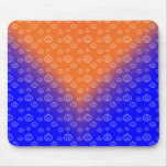 Pumpkin pattern on blue mouse pads