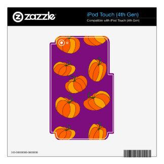 Pumpkin Pattern on iPod Touch (4th Gen) Skin iPod Touch 4G Skin