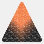 Pumpkin pattern on orange black fade triangle sticker