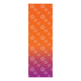 Pumpkin pattern on purple orange fade Double-Sided mini business cards (Pack of 20)