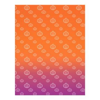 """Pumpkin pattern on purple orange fade 8.5"""" x 11"""" flyer"""