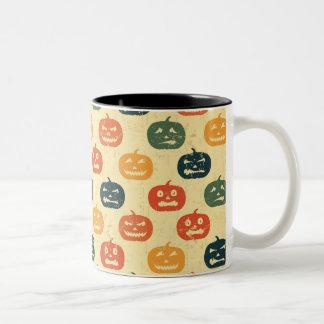 Pumpkin pattern Two-Tone coffee mug