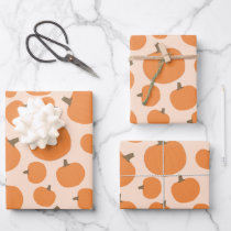 Pumpkin Pattern Wrapping Paper Sheets