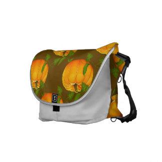 Pumpkin Patterned Courier Bag
