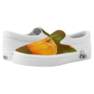 Pumpkin Patterned Printed Shoes