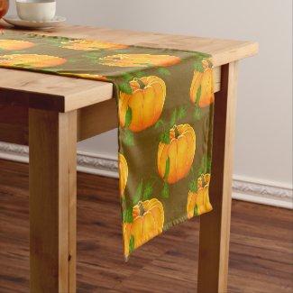 Pumpkin Patterned Short Table Runner