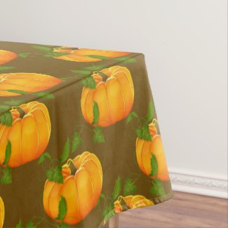 Pumpkin Patterned Tablecloth