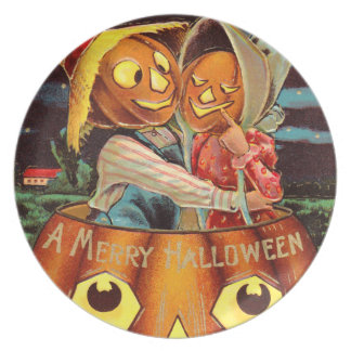 Pumpkin People Plates