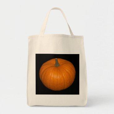 Halloween Themed Pumpkin Photo on Black Background Tote Bag