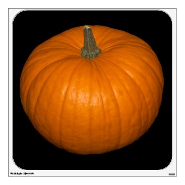 Halloween Themed Pumpkin Photo on Black Background Wall Sticker