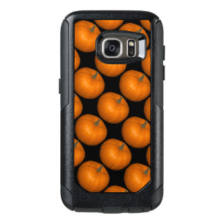 Pumpkin Photos on Black Background OtterBox Samsung Galaxy S7 Case