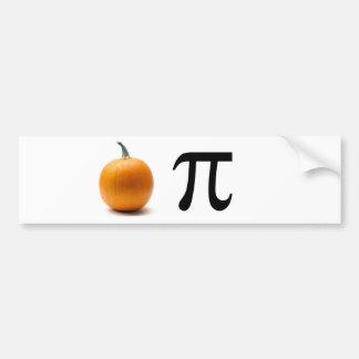 Pumpkin Pi Bumper Sticker