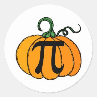 Pumpkin Pi Classic Round Sticker