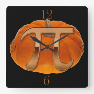 Pumpkin Pi Funny Math-lover's Wall Clock