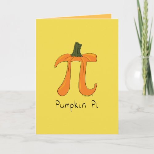 Pumpkin Pi Greeting Card
