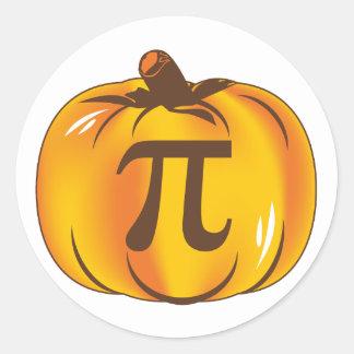 Pumpkin Pi - Happy Halloween Classic Round Sticker