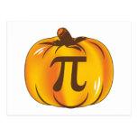 Pumpkin Pi - Happy Halloween Post Cards