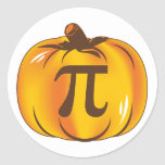 Pumpkin Pi - Happy Halloween Round Stickers