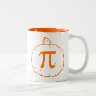 Pumpkin Pi (pie) Mathematics Humour Two-Tone Coffee Mug