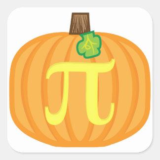 Pumpkin Pi Square Sticker