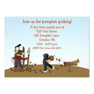 Pumpkin Picking Cat Card