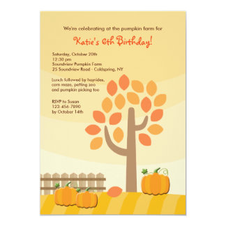 Pumpkin Picking Invitation