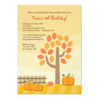 Pumpkin Picking Invitation
