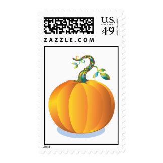 Pumpkin Picture Postal Stamp
