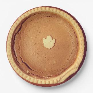 Pumpkin Pie 9 Inch Paper Plate