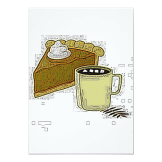 Pumpkin Pie And Coffee Invitation Card