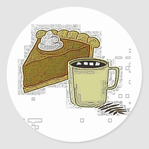 Pumpkin Pie And Coffee Sticker