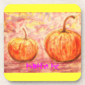 pumpkin pie art beverage coasters
